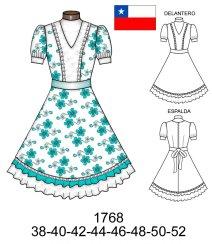 Vestido de huasa moderno