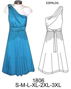 Trazos de vestidos de noche