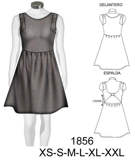 Molde para vestido de fiesta - Imagui