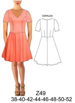 Trazo de vestido corte frances