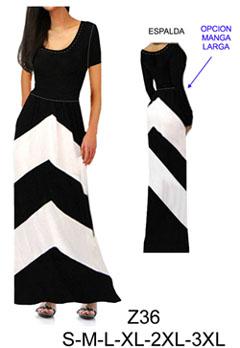 Vestidos circulares largos con manga